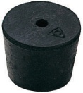 Stopper, Rubber, One Hole, Size 8, 6/pk