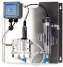 CLT10 sc Total Chlorine Sensor, sc100 Controller, and Stainless Steel Panel with Grab Sample Only